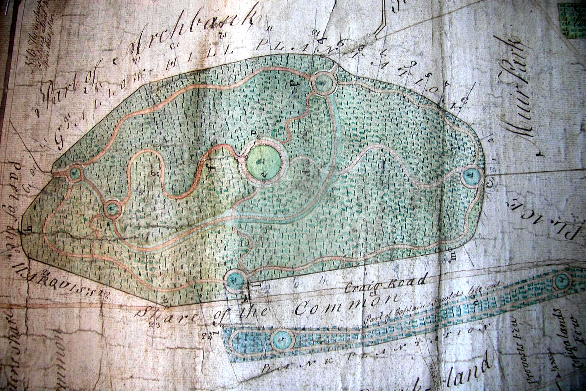 An old map of Gallow Hill