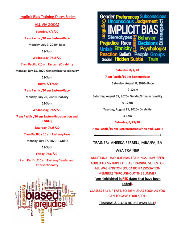 Implicit Bias Trainings