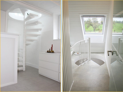 stair case to the guest rooms