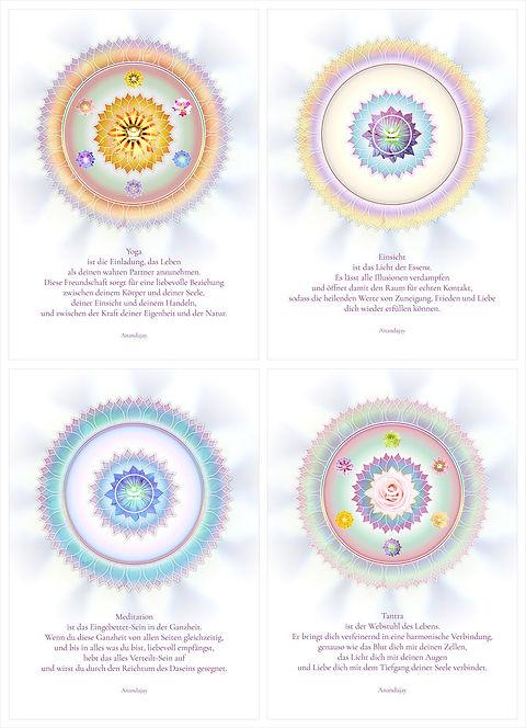 Inspirationskarten Serie 'Mandalas'