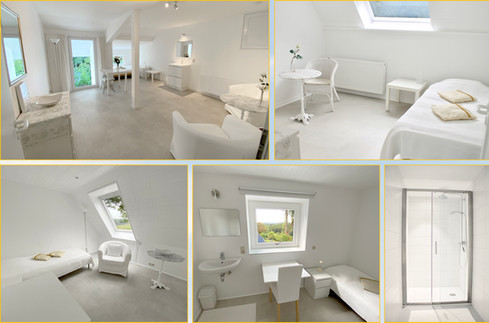 Guest rooms and shower