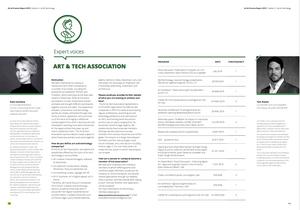 Founders of Art & Tech Association: Kate Vasilieva and Tom Rieder