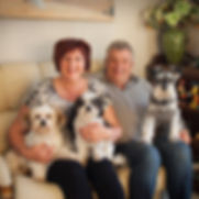 Garry and Karyn Walls and their dogs