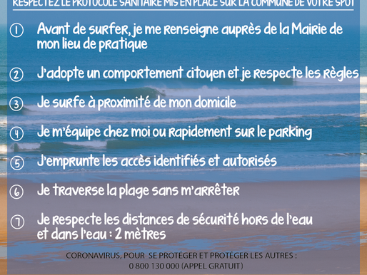 Règles pour une pratique du surf en toute sécurité sur nos plages.
