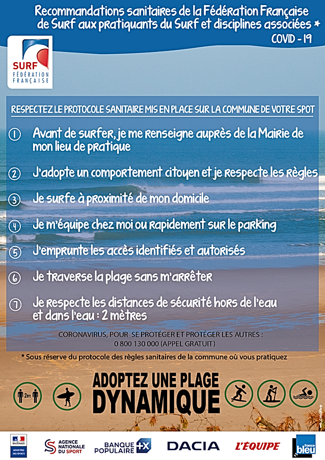 règles surf covid-19