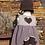 Thumbnail: Ensemble Lucie A. (robe, bonnet, chaussons) - duvet peigné baby yak