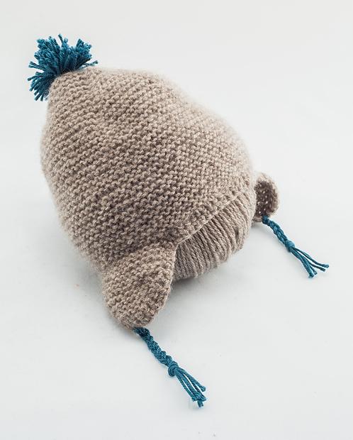 Duo Pierre & Marie C. (bonnet et chaussons) - Pur duvet peigné baby yak