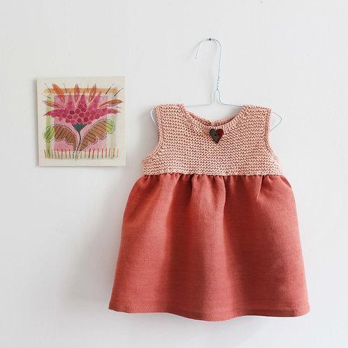 Robe tricotée Malala - Pur coton pima bio et équitable