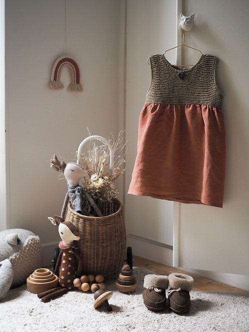 Robe tricotée Frida K. - Pur coton pakucho bio et équitable