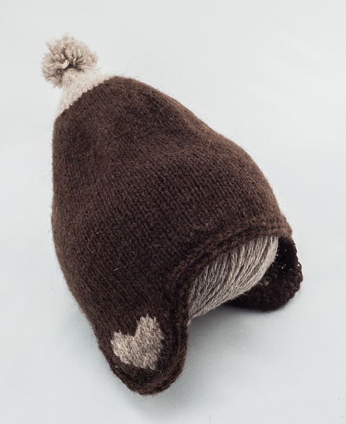 Duo Lucie A. (bonnet et chaussons) - duvet peigné baby yak