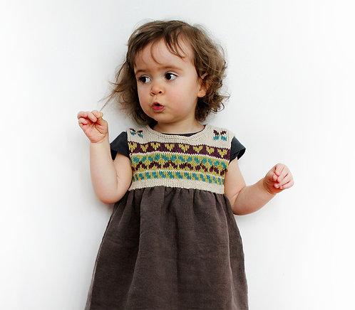 Robe tricotée Eve C. - Coton/lin filé en France
