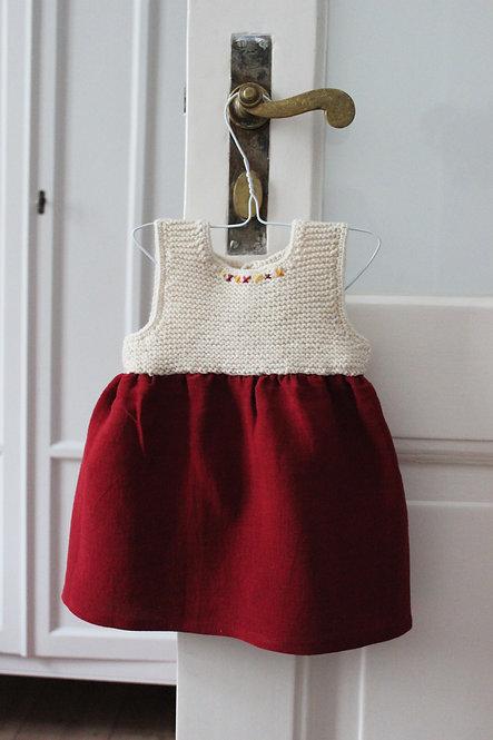 Robe tricotée Jeanne B. - Pur Mérinos d'Arles français peigné