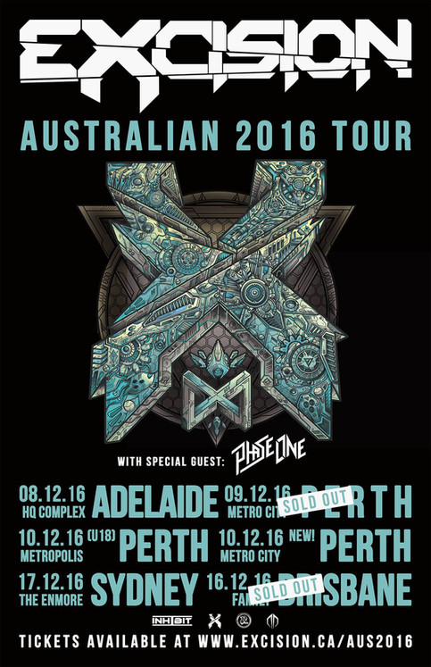 PhaseOne on the Excision Australian Tour