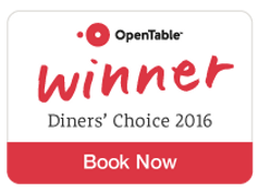 Open Table Diners' Choice Winner
