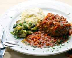 Beef Short Ribs with parmesan polenta
