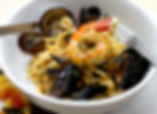 Linguine with a seafood symphony