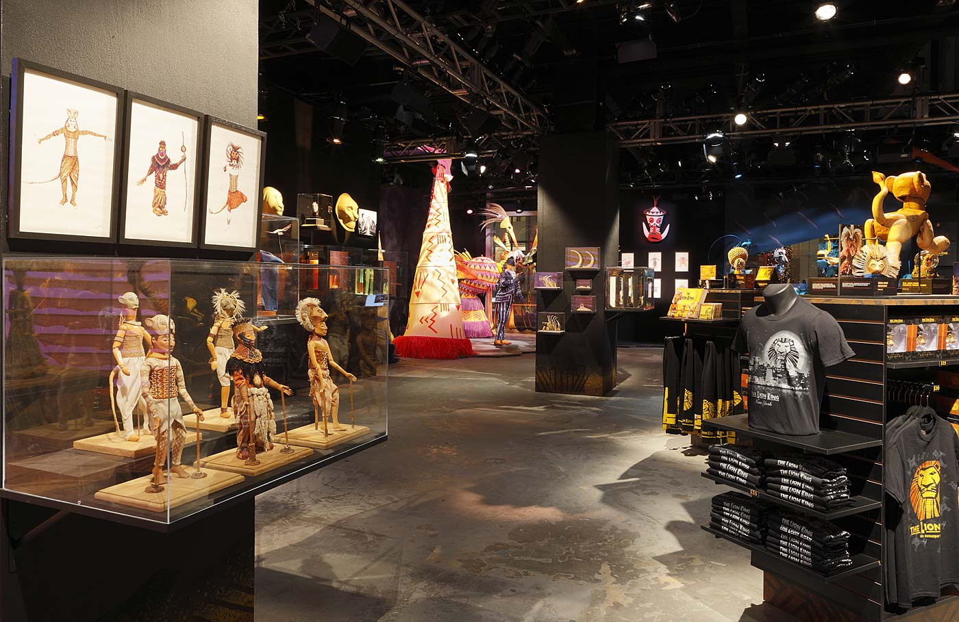 INSIDE THE LION KING EXHIBIT