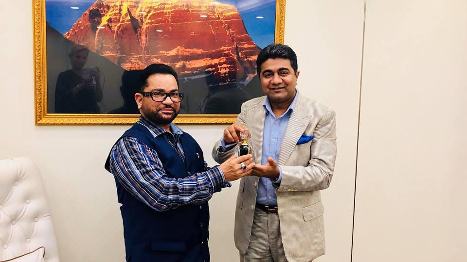 Abhishek Verma with J M Joshi