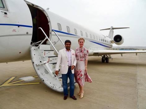 Abhishek Verma & Anca Verma - Private Jet