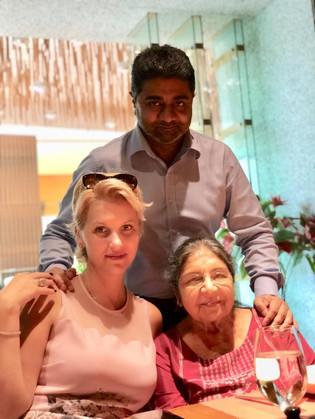 Abhishek Verma, Anca Verma and Veena Verma (Mother)