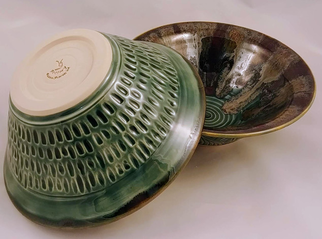 Carved and Triple Glazed Bowls