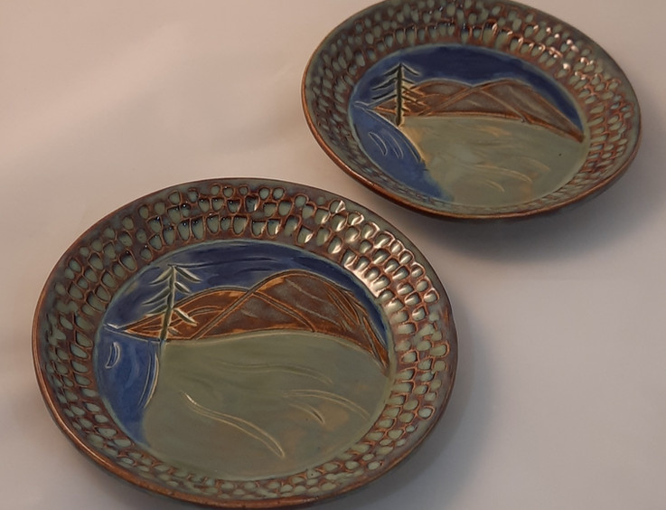 Painted Plate - $35 each