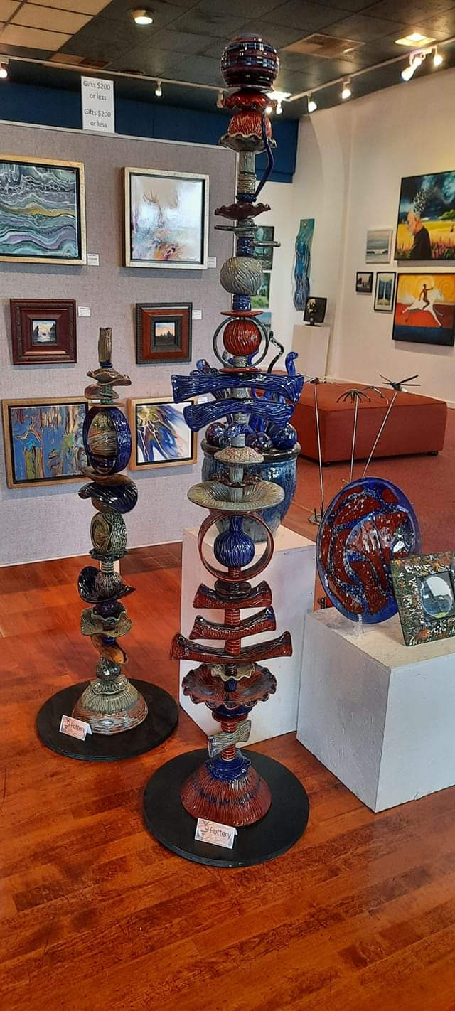 4ft & 6ft Totems at Alder Grove Gallery