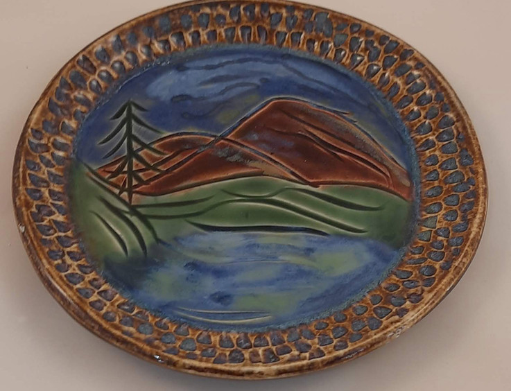 Painted Plate - $35