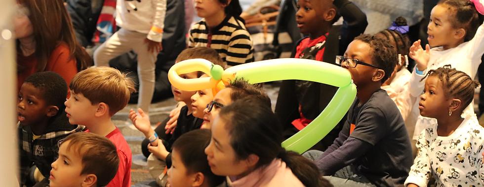 The children enjoying the magic show!