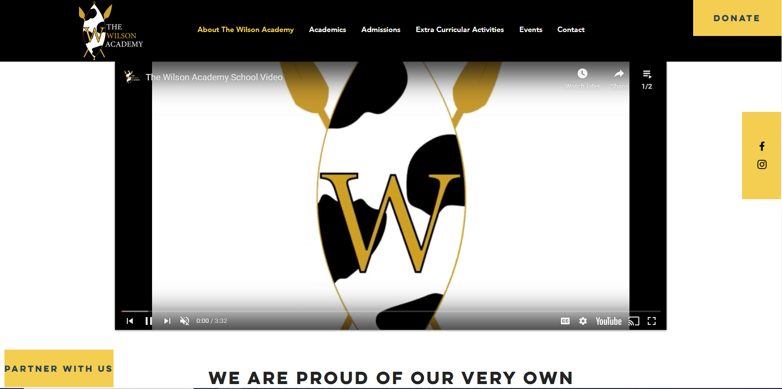 The Wilson Academy Website Image