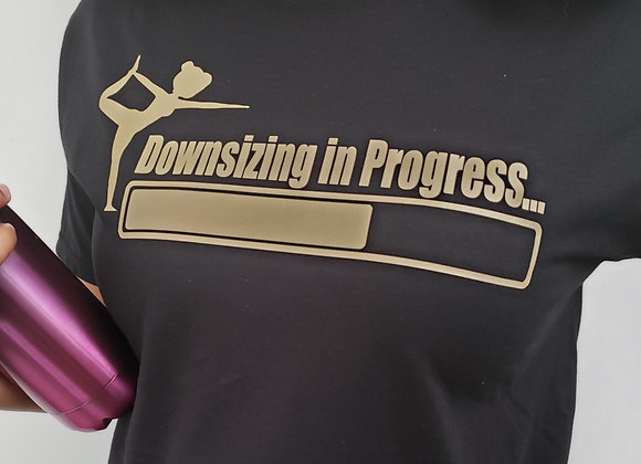 Downsizing In Progress (Yoga) T-Shirt