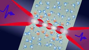 THz spectroscopy tracks electron solvation in photoionized water