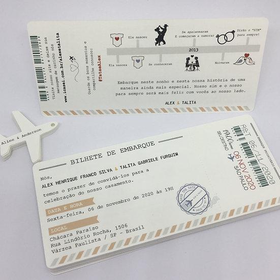 Convite Voucher Luxo