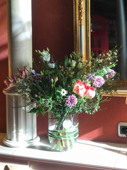 Tribeca restaurant flower decoration