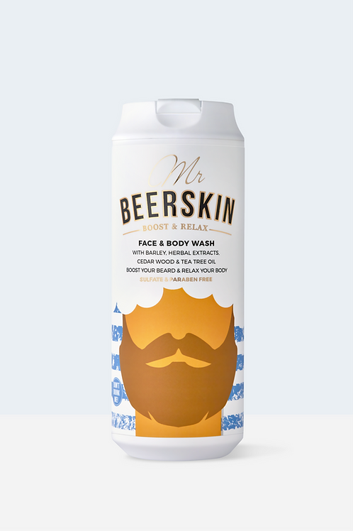MR BEERSKIN BOOST&RELAX FACE&BODY WASH, 440ml
