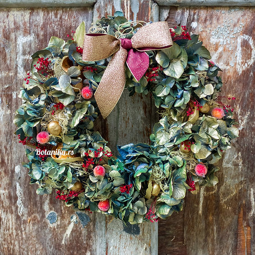 With Best Wishes! /natural wreath in a gift box/