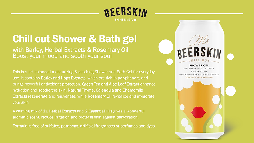 Chill Out Shower and Bath Gel Ms Beerski
