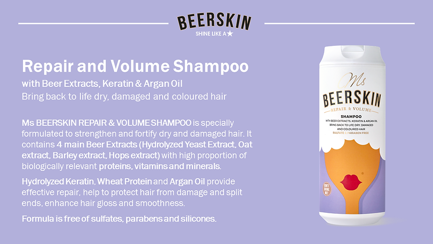 Repair & Volume Beer Shampoo Ms Beerskin
