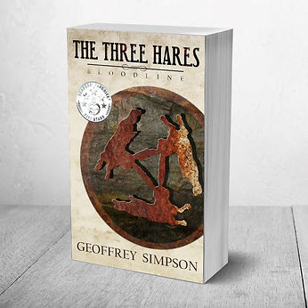 The Three Hares: Bloodline adventure mystery book series for middle school MG author Geoffrey Simpson