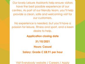 Job Vacancy at the Community Centre