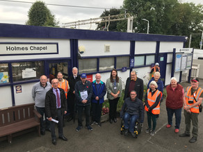 Commemorative Bench unveiled at the Railway Station