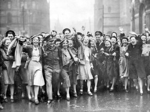 Holmes Chapel on VE Day 1945