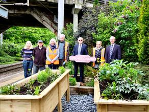 Friends of Holmes Chapel Railway Station receive an award