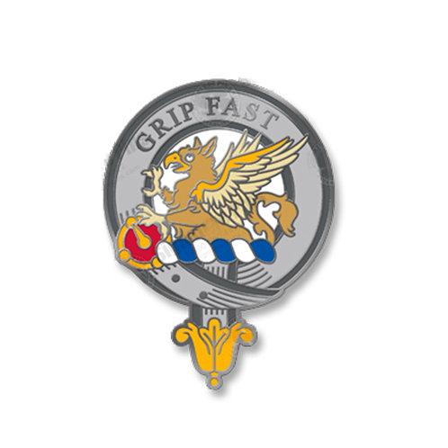 Leslie Clan Badge Pin