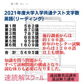 2021年度大学入学共通テスト文字数