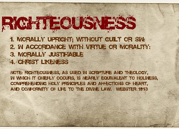 Righteousness Should Lead to my Healing