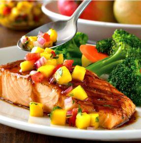 salmon and brocolli