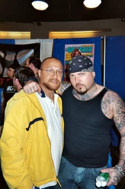With former OZ actor Evan Seinfeild
