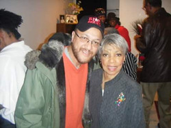 With actress Ruby Dee