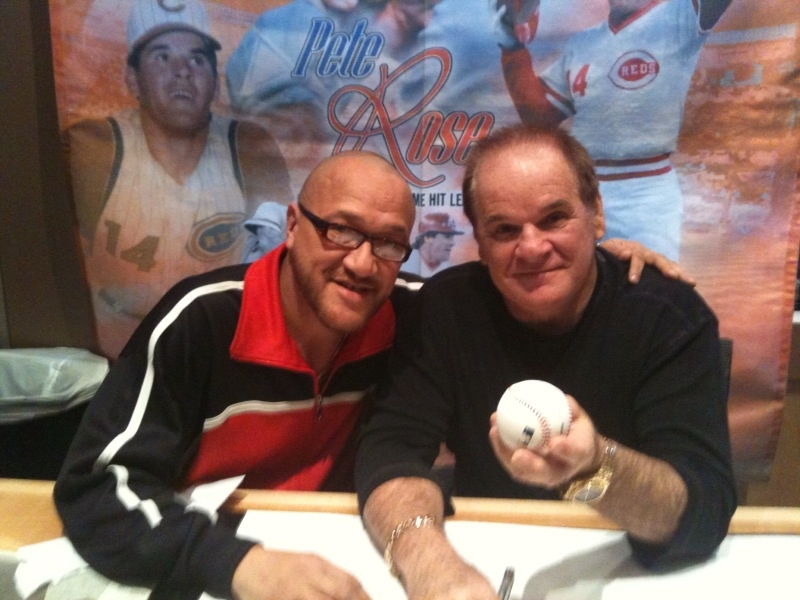 With MLB icon Pete Rose